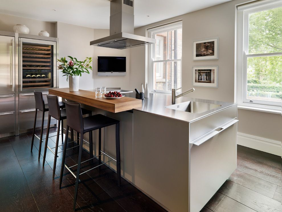 Standard Bar Stool Height for a Contemporary Kitchen with a Designer and Mansion Block Apartment by Bulthaup by Kitchen Architecture