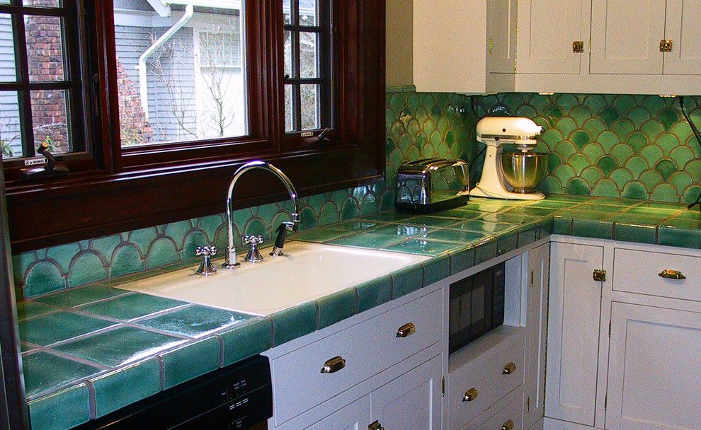 Standard Plumbing Utah for a Traditional Kitchen with a Green and Arts and Crafts Kitchen by Norberry Tile & Plumbing Studio