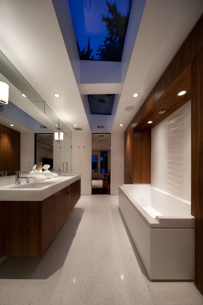 Star Trek Deep Space Nine Cast for a Midcentury Bathroom with a Awes and Golden Valley Mid Century Remodel by Citydeskstudio, Inc.