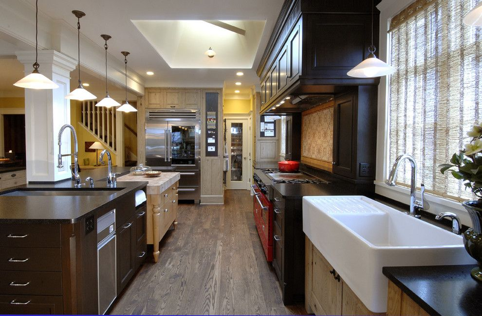 Star Trek Deep Space Nine Cast for a Traditional Kitchen with a Kitchen Island and Warmington and North by Warmington & North