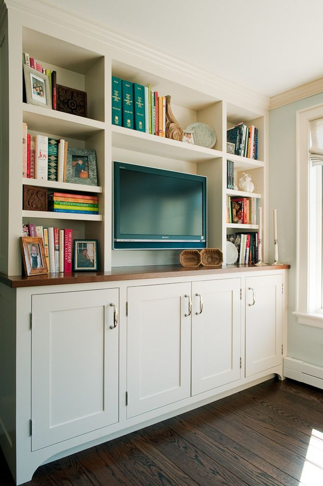 Stash Furniture for a Transitional Kitchen with a Shaker Door and Kitchen by Su Casa Designs