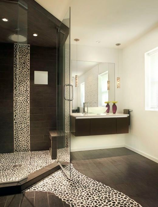 Steamist for a Contemporary Bathroom with a Wood Floor Bathroom and Roberts Master Bath by Immerse