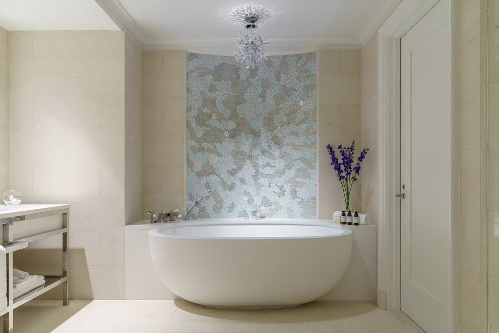 Stillwaters Resort for a Modern Bathroom with a Freestanding Vanity and Tyrrell and Laing International, Inc. by Tyrrell and Laing International, Inc.