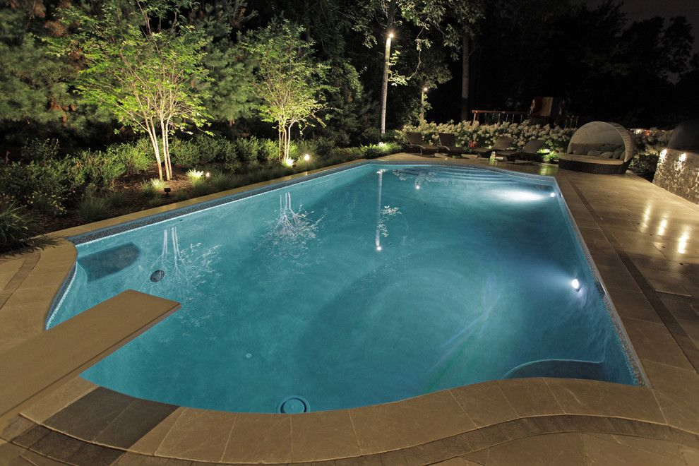 Stillwaters Resort for a Transitional Pool with a Morris County Custom Swimming Pool Design Pool Designer B and Berkeley Heights Nj | Custom Pool Design New Jersey by the Pool Artist | Brian T. Stratton