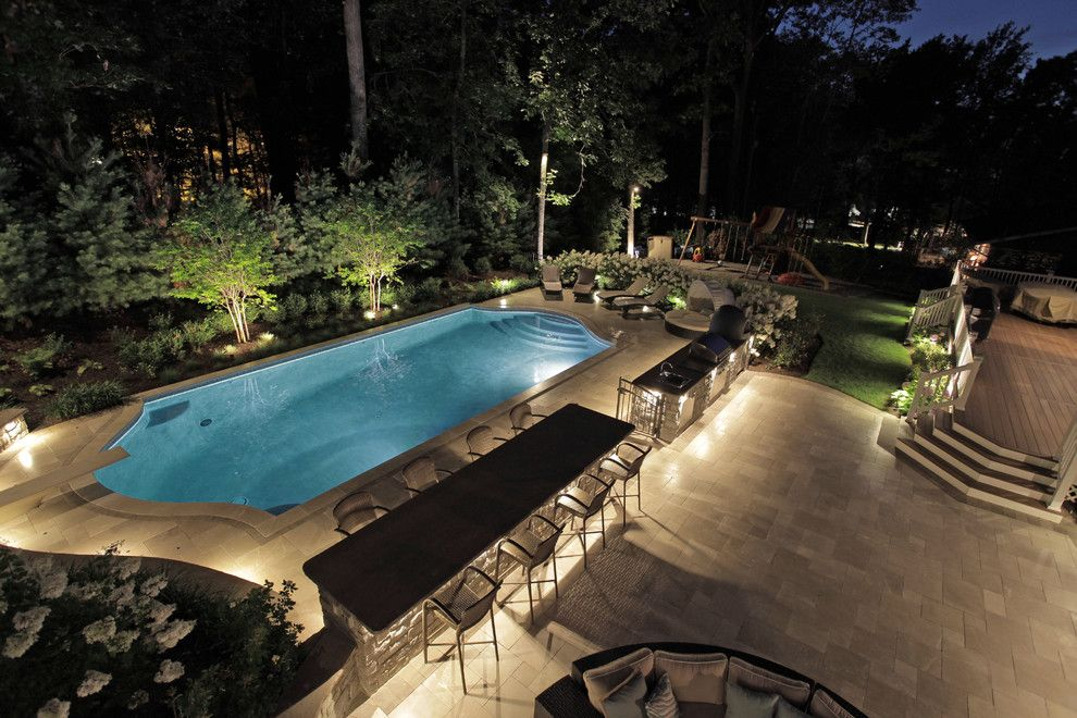 Stillwaters Resort for a Transitional Pool with a Mount Olive and Custom Pool Design | Berkeley Heights Nj  New Jersey by the Pool Artist | Brian T. Stratton