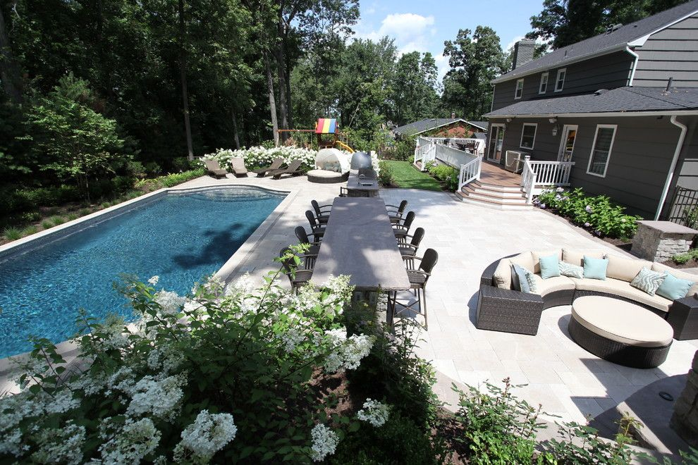 Stillwaters Resort for a Transitional Spaces with a Montville and Berkeley Heights Nj | Custom Pool Design New Jersey by the Pool Artist | Brian T. Stratton