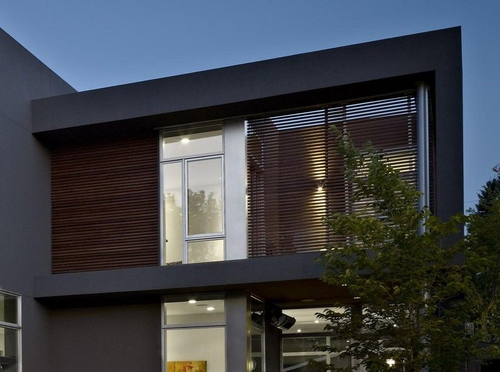 Sto Stucco for a Modern Exterior with a Lighting and Sd House by Thirdstone Inc. [^]