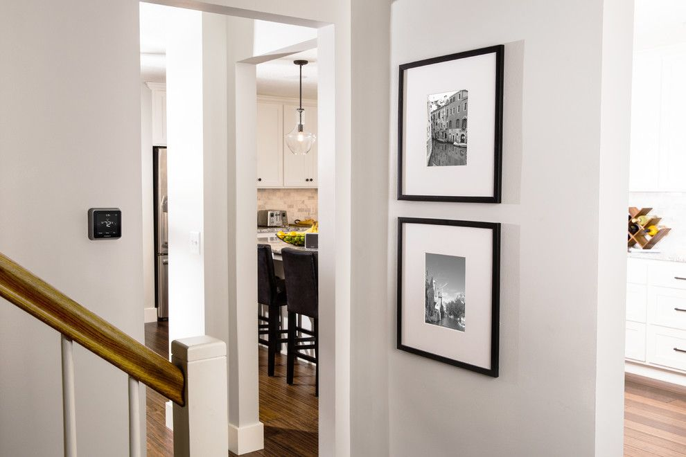 Storer House for a Contemporary Hall with a Smart Home Technology and Honeywell Home by Honeywell Home