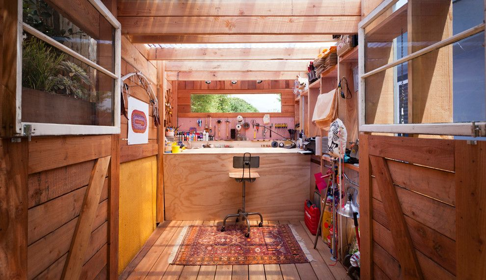 Storer House for a Contemporary Shed with a Tool Shed and Art Shed by Wyndhamdesign