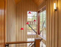 Straw Bale Construction for a Rustic Staircase with a Corrugated Metal and Rustic Staircase by madeen.com