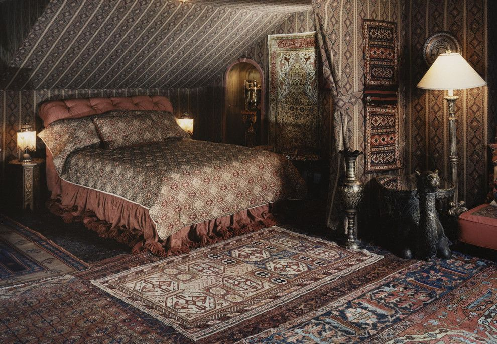 Stroheim for a Traditional Bedroom with a Antique Silk Turkish Hereke Rug and Bucks County Pa Estate by Nejad Rugs & Home