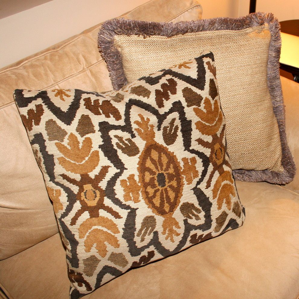 Stroheim for a Traditional Living Room with a Jute Trim and Cushions, Pillows, Bedding, Etc. by Mitchell Designs Llc