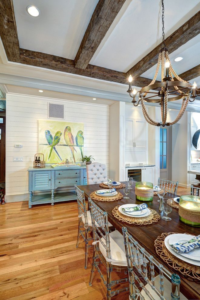 Sullivans Island Sc for a Beach Style Dining Room with a Artwork and Sullivan's Island Beach House by Ink Architecture + Interiors