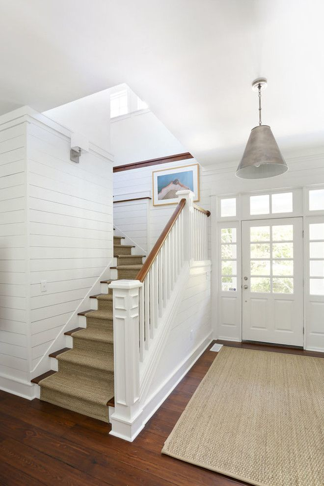 Sullivans Island Sc for a Beach Style Staircase with a Metal Pendant Lighting and Sullivan's Island Family Home Renovation by Diament Builders