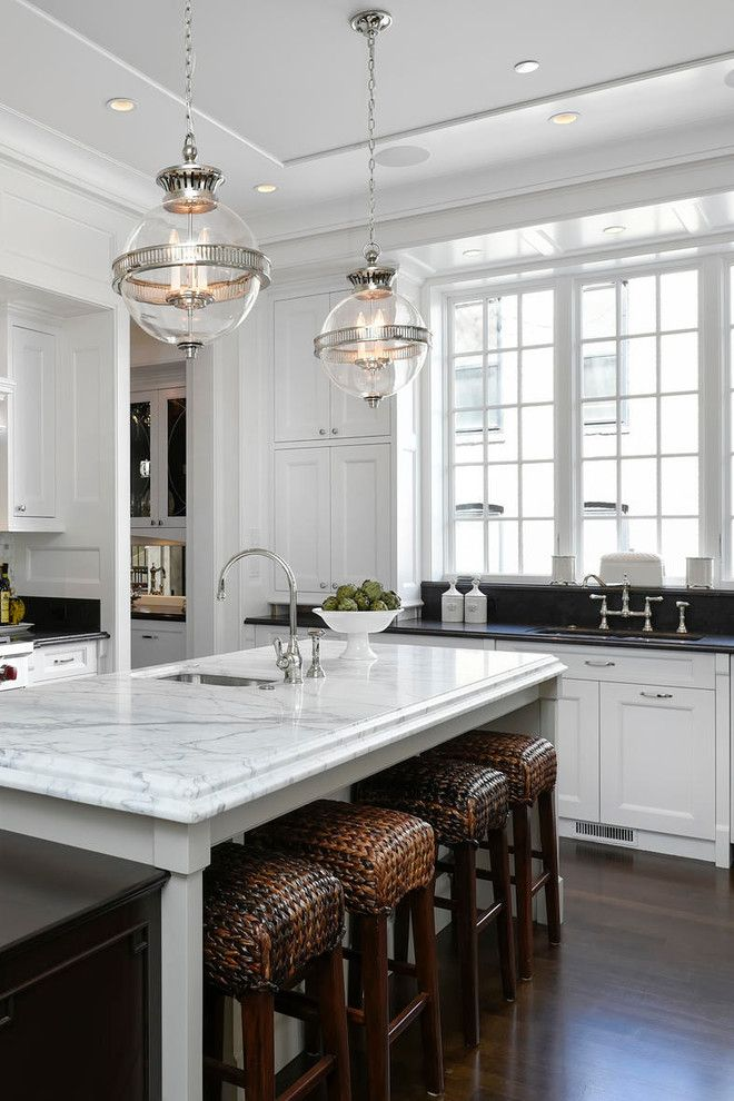 Sullivans Island Sc for a Traditional Kitchen with a Black Countertop and Classic Georgian by Burns and Beyerl Architects