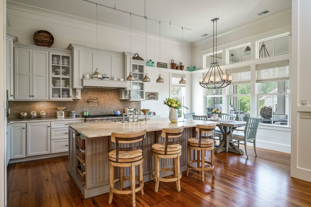 Sullivans Island Sc for a Transitional Kitchen with a Counter Stools and Palmetto Bluff New Home by Coastal Signature Homes
