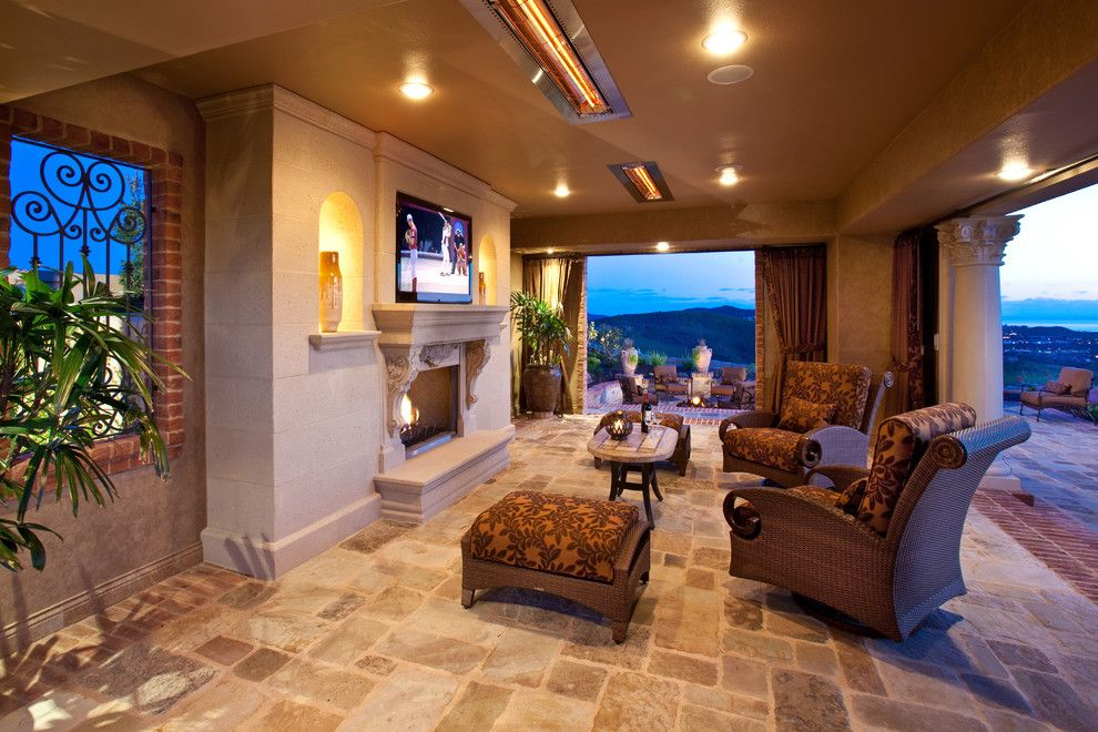 Summers Heating and Cooling for a Mediterranean Patio with a Columns and Outdoor Rooms/patio Covers by Mclaughlin Landscape Construction