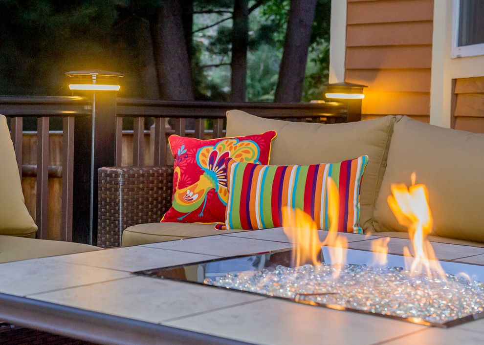 Summers Heating and Cooling for a Modern Deck with a Casual Elegance and Clifton Park Deck by Bespoke Decor
