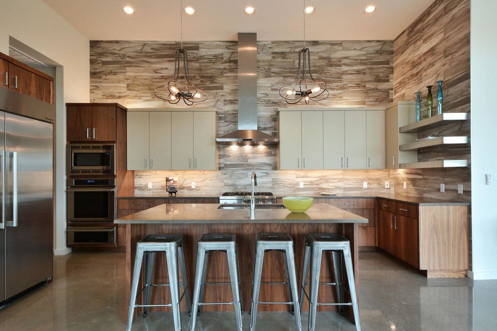 Summit Appliance for a Contemporary Kitchen with a Counter Stools and Kitchens by Legend Lighting