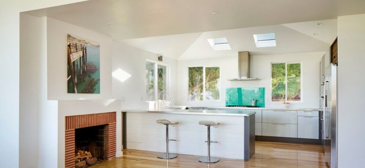 Summit Appliance for a Contemporary Kitchen with a Skylights and Morris House by Martin Fenlon Architecture
