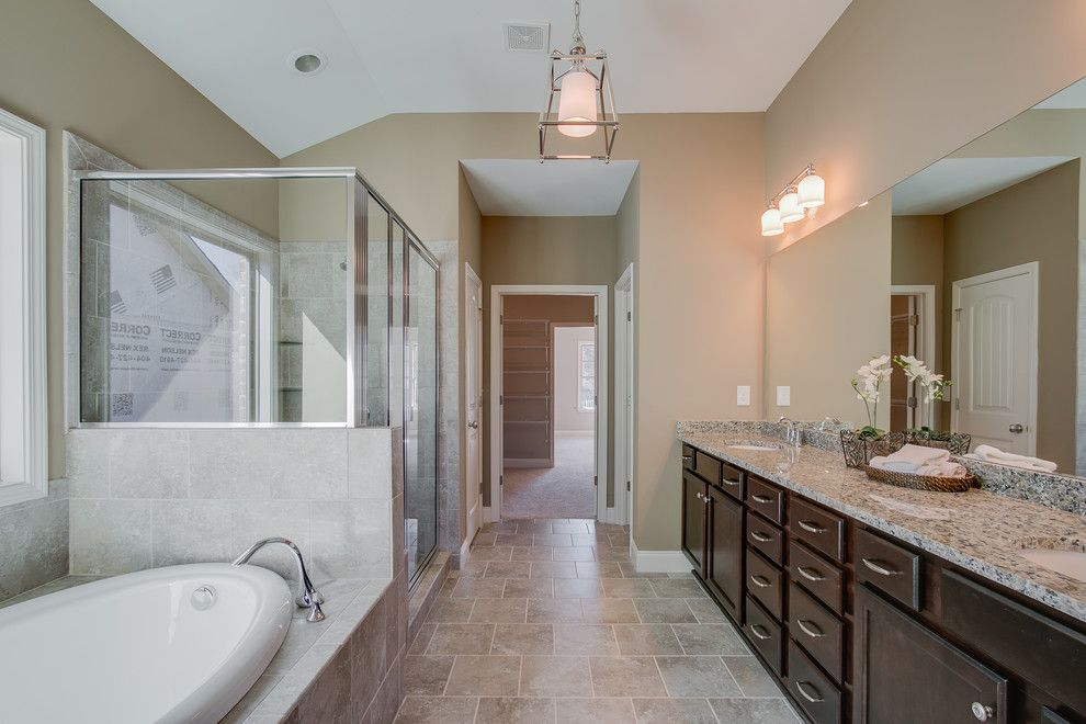 Summit Pointe for a  Bathroom with a Home Staging and Summit Point Model (Johns Creek, Georgia) by Fynhome Staging & Redesign