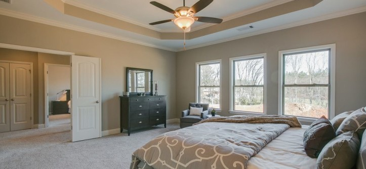 Summit Pointe for a  Bedroom with a Home Staging and Summit Point Model (Johns Creek, Georgia) by fynHome Staging & Redesign