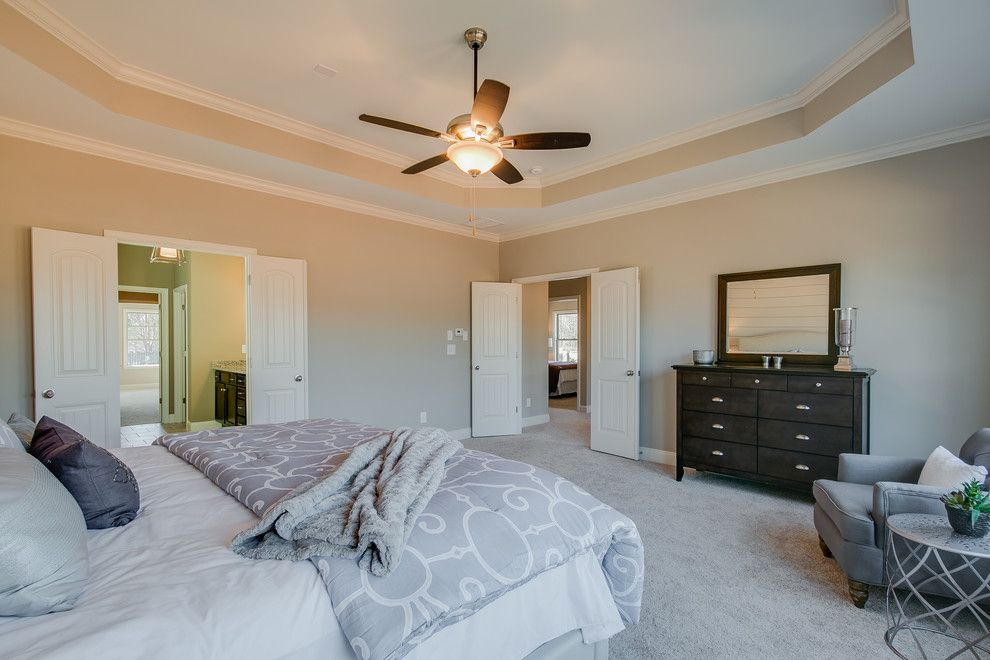 Summit Pointe for a  Bedroom with a Master Suite and Summit Point Model (Johns Creek, Georgia) by Fynhome Staging & Redesign