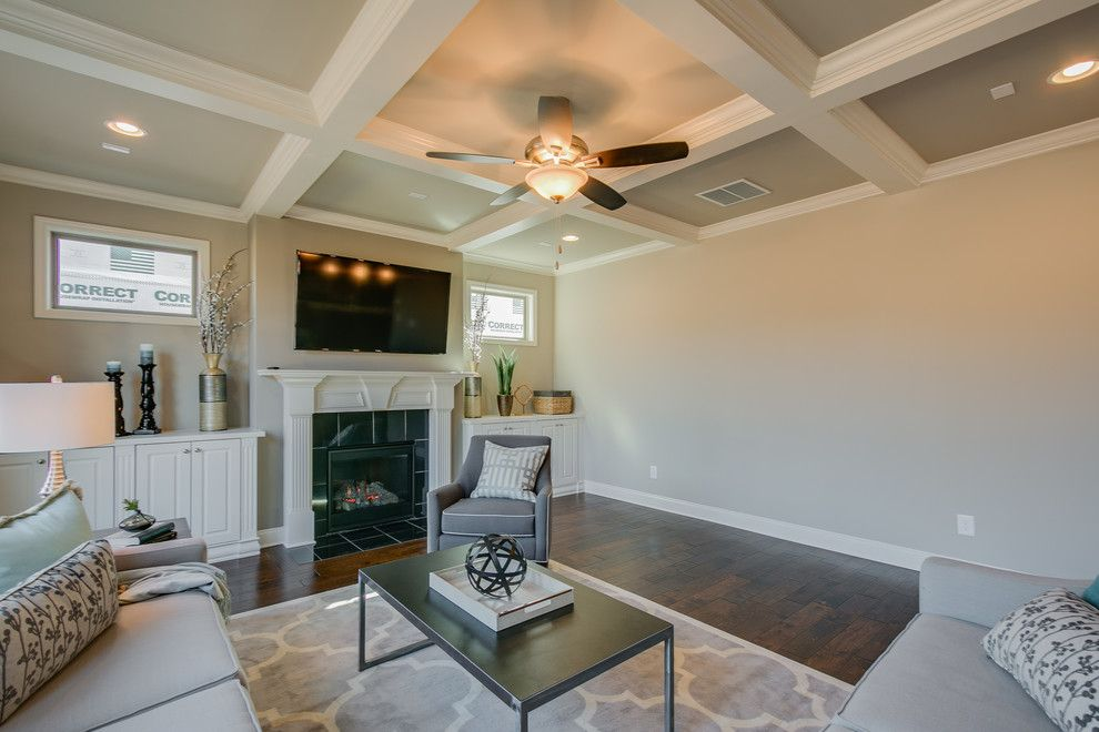 Summit Pointe for a  Family Room with a Home Stagers and Summit Point Model (Johns Creek, Georgia) by Fynhome Staging & Redesign