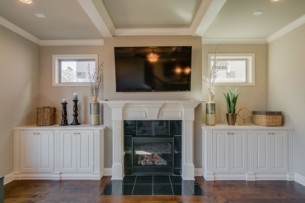 Summit Pointe for a  Family Room with a Staged Model and Summit Point Model (Johns Creek, Georgia) by Fynhome Staging & Redesign
