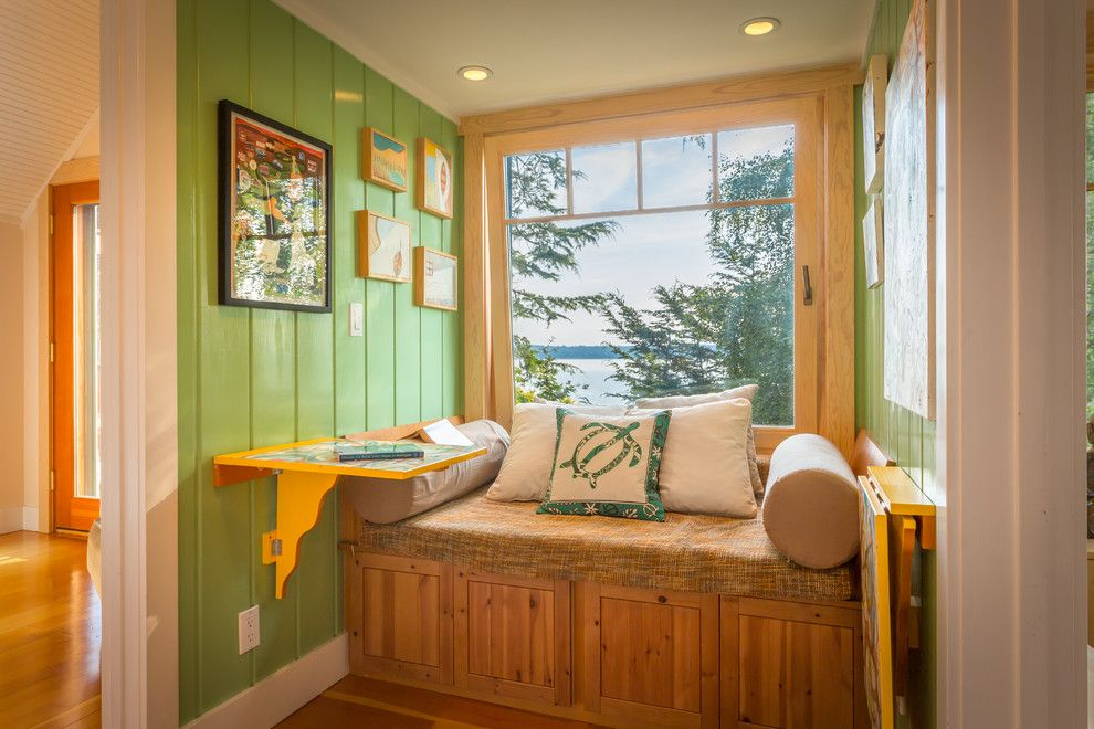 Sun Realty Outer Banks for a Beach Style Hall with a Storage Bench and West Seattle Waterfront Retreat by Cassie Daughtrey Realogics Sotheby's Realty