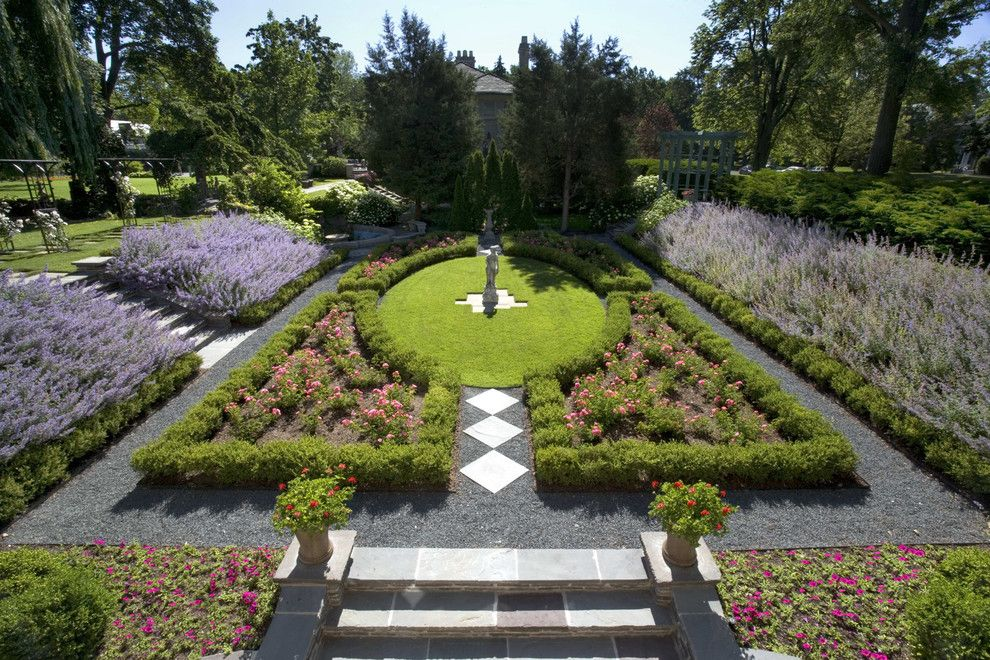 Sun Realty Outer Banks for a Victorian Landscape with a Lawn and Historic Landscape Design, Wilmette Illinois by Schmechtig Landscapes