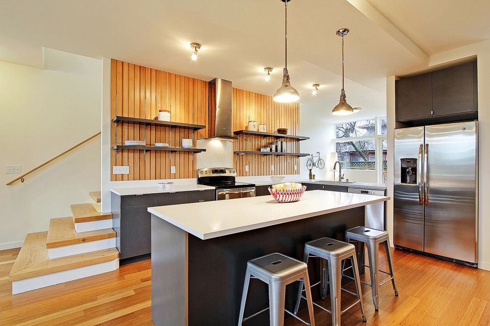 Sundance Seattle for a Contemporary Kitchen with a Bar Stools and Green Built Seattle Townhouse by Seattle Staged to Sell and Design Llc