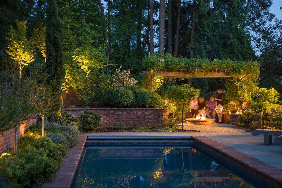 Sundance Seattle for a Traditional Pool with a Narrow Planting Strip and Landscape Projects by Sundance Landscaping