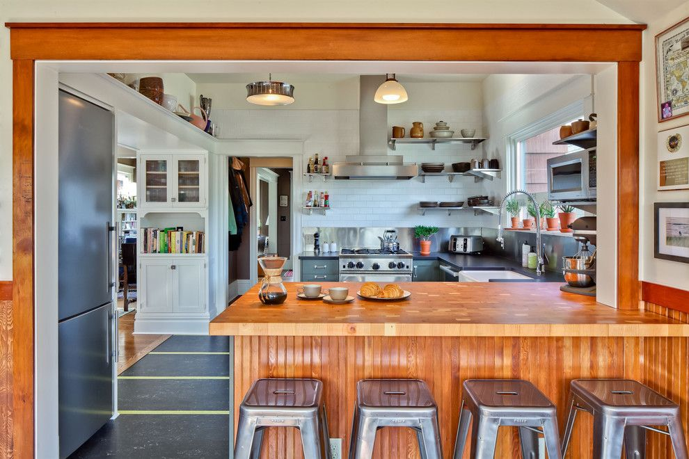 Sundance Seattle for a Transitional Kitchen with a Stainless Steel and Capital Hill Kitchen by Gaspar's Construction