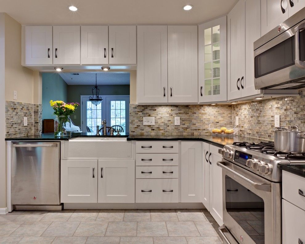 Sunflower Cafe Sonoma for a Traditional Kitchen with a Farmhouse Sink and Miller Kitchen by Turan Designs, Inc.