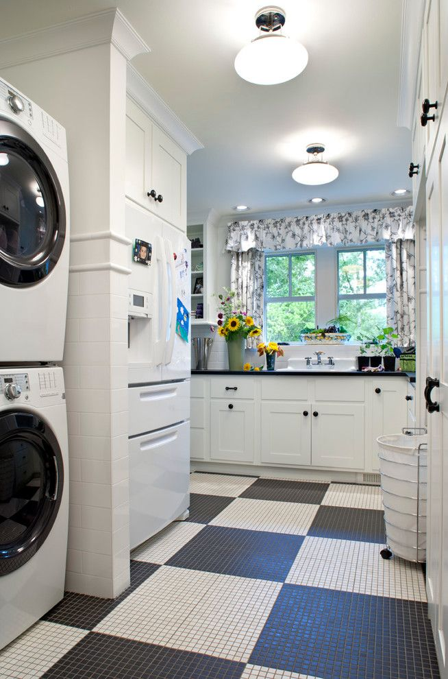Sunflower Cafe Sonoma for a Traditional Laundry Room with a Crown Molding and Ramble House by Ambiance Interiors