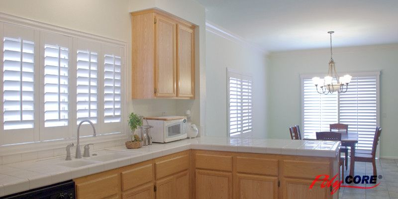 Sunland Shutters for a Contemporary Kitchen with a Contemporary and Sunland Shutters  Polycore by Ej's Home Improvements, Inc.