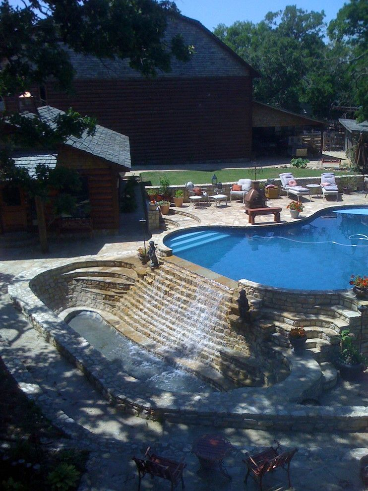 Sunnyvale Rod and Gun for a Traditional Pool with a Traditional and Ardmore Rod & Gun Club by Designs by Samantha, Llc