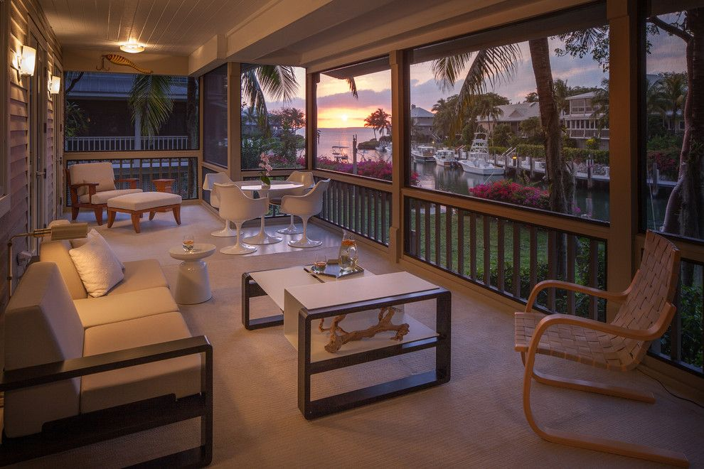 Sunset at the Palms Negril for a Contemporary Porch with a Modern Coffee Table and KEY LARGO by Michael Wolk Design Associates