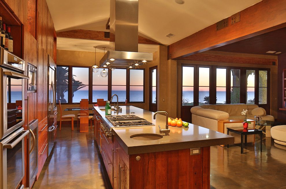 Sunset at the Palms Negril for a Rustic Kitchen with a Modern and Rustic Contemporary by Pritzkat & Johnson Architects