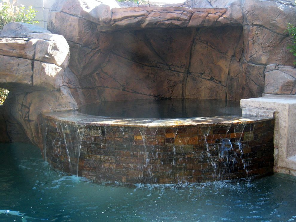 Sylvan Pools for a Rustic Pool with a Gorgeous Pool and Freeform Pool & Spa   Silverado Springs   Las Vegas, Nv by Anthony & Sylvan Pools
