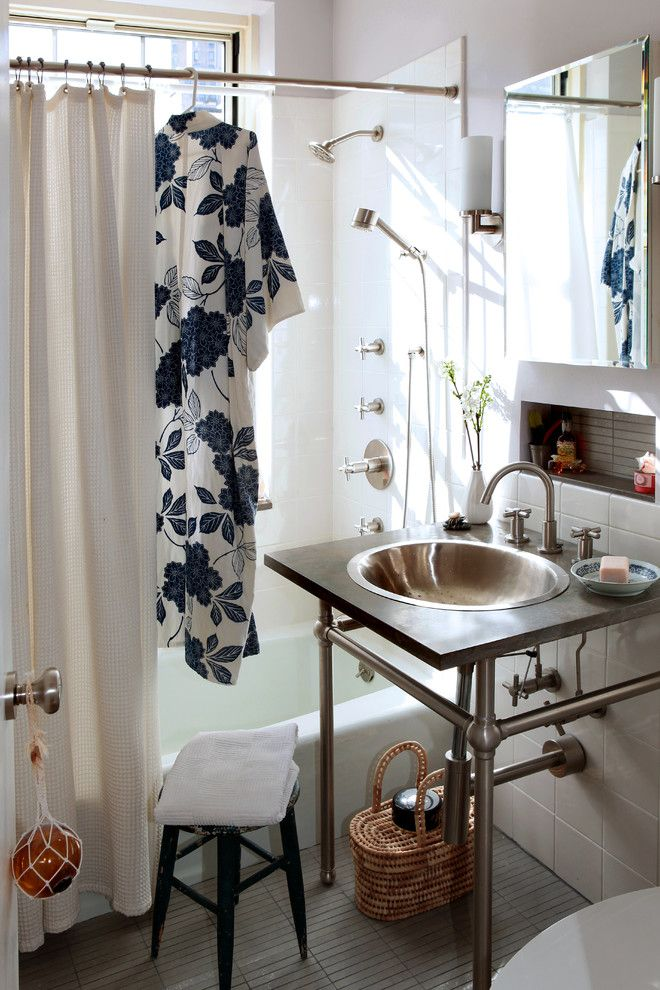 Sysco Guest Supply for a Eclectic Bathroom with a Tile Floors and Village Apartment Nyc by Moment Design + Productions, Llc