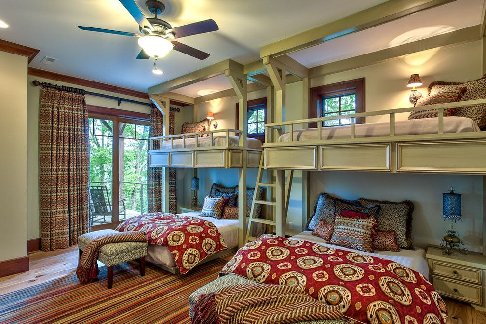 Sysco Guest Supply for a Traditional Bedroom with a Wood Trim and Beautiful Mountain Residence by Glennwood Custom Builders (Nc)