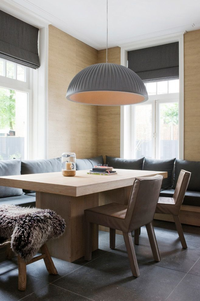 Table Shuffleboard Rules for a Scandinavian Dining Room with a Kitchendining and House Amsterdam Zuid, the Netherlands by Baden Baden Interior