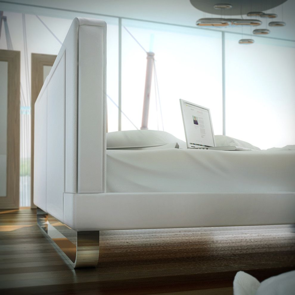 Tailor Lofts for a Contemporary Bedroom with a Chelsea and Chelsea Contemporary & Modern Bed by Modloft by Cressina