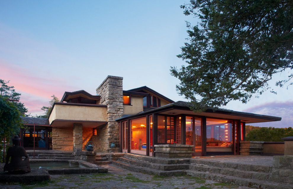 Taliesin Wisconsin for a Contemporary Exterior with a Taliesin and Taliesin, Frank Lloyd Wright by Corey Gaffer Photography
