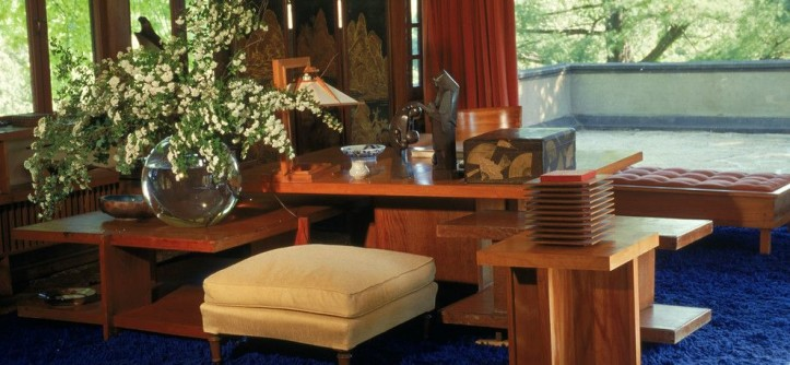 Taliesin Wisconsin for a  Living Room with a Frank Lloyd Wright and Wright's Bedroom by Taliesin Preservation, Inc.