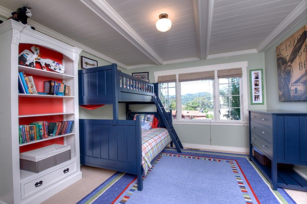 Tamalpais for a Craftsman Bedroom with a Wood Shelf and Extraordinary & Rare Mill Valley Family Compound by Decker Bullock Sotheby's International Realty