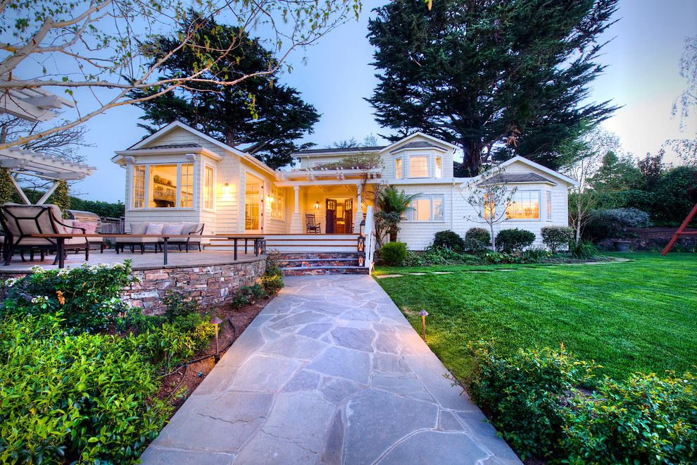 Tamalpais for a Craftsman Exterior with a Stone Walk and Extraordinary & Rare Mill Valley Family Compound by Decker Bullock Sotheby's International Realty