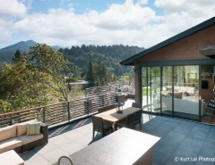 Tamalpais for a Modern Patio with a Modern Furniture and Kentfield Modern Craftsman Home by Couture Architecture
